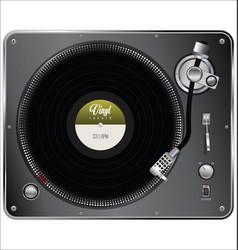 retro vintage vinyl player vector image vector image