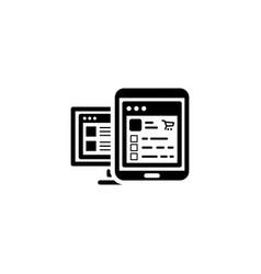 Shop app icon flat design vector