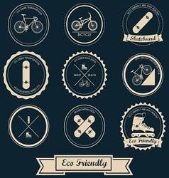 Urban Transportation Label Design vector image