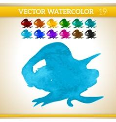 Blue watercolor artistic splash for design and vector