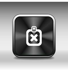 Form X Mark Icon flat survey reject checklist vector image