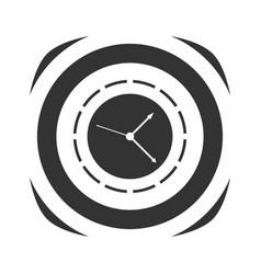 icon of simple clock vector image vector image