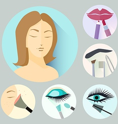 make-up icons vector image vector image