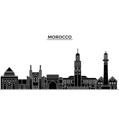 morocco architecture city skyline travel vector image