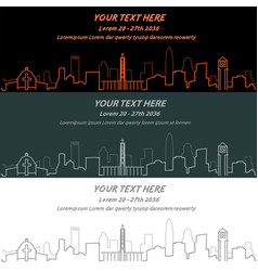 charlotte event banner hand drawn skyline vector image vector image