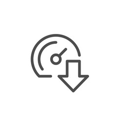 Download speed line icon vector
