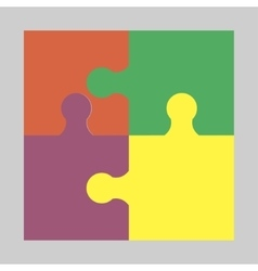 Four colorful puzzle vector image