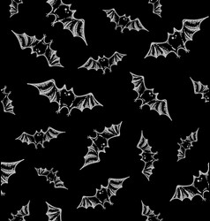 Helloween bats pattern vector