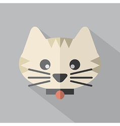 Modern Flat Design Cat Icon vector image vector image