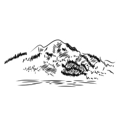 Mountain Landscape Hand drawn vector image vector image