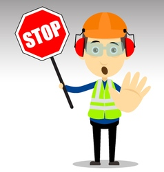 Safety Worker vector image