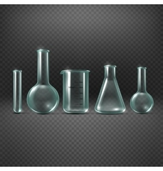 Chemical realistic test tubes set vector image vector image