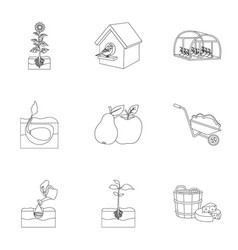 farm ecology vitaminsand other web icon in vector image vector image