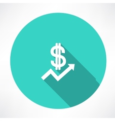 financial report with dollar icon vector image