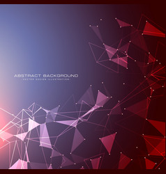 futuristic background with dots lines and vector image vector image