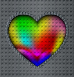 image of colored heart vector image vector image