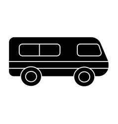 microbus - minibus icon vector image vector image