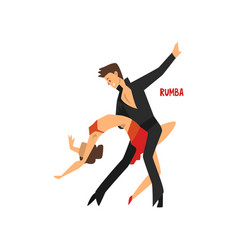 professional dancer couple dancing rumba pair of vector image