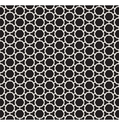 Seamless black and white rounded hexagon vector