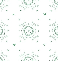 Seamless flowerr pattern vector image