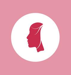 woman beautiful face profile icon vector image
