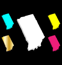 3d map of indiana vector image
