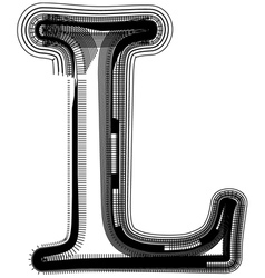 abstract font letter L vector image