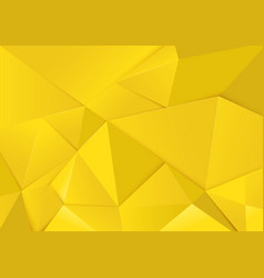 abstract geometric yellow tone polygon background vector image