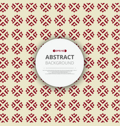 abstract of red chinese pattern geometric vector image