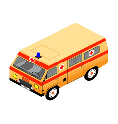 ambulance in isometric view vector image