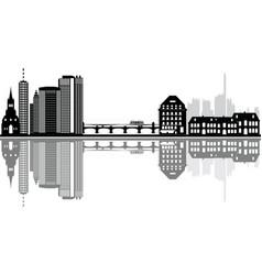 Basel reflect city skyline vector