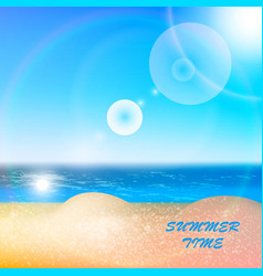 beach sea sky summer sun vector image