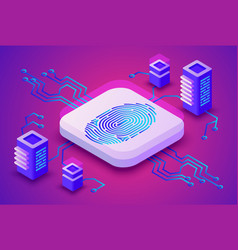 Biometrics blockchain technology vector