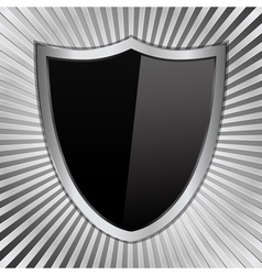 black shield vector image
