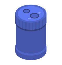 blue sharpener icon isometric style vector image