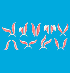 bunny ears easter bunnies mask funny rabbit ear vector image