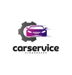 car service logo car repair logo design template vector image