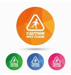 Caution wet floor icon Human falling symbol vector image
