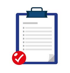 Checklist icon cartoon vector