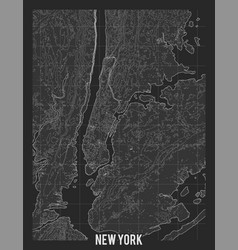 city map new york elevation map town vector image