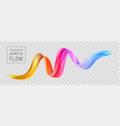 Colorful flow poster transparent brushstroke wave vector