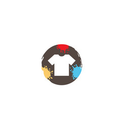 creative colorful circle colorful tshirt logo vector image