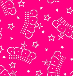 Crowns and stars seamless pattern vector