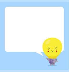 cute bulb with speech bubbles vector image