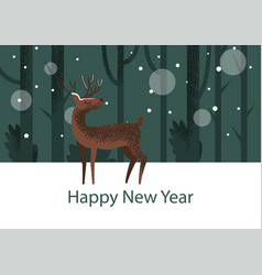 cute childish deer vector image