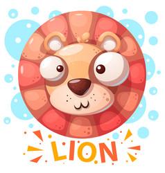 Cute lion character - cartoon vector