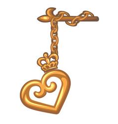 decorative pendant on curtain rod a gold vector image