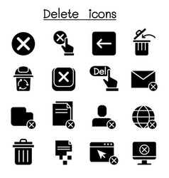 Delete icon set graphic design vector