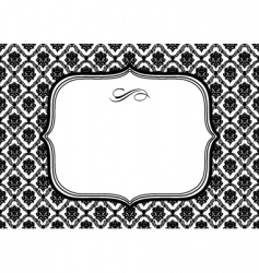 Diamond pattern frame vector
