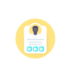 Employee review rating or score icon vector